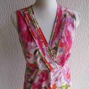 Tommy Bahama Colorful Dress S Pink Green Purple